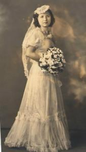Aunt Irene as a bride