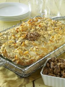 Rita's Special Kugel with Toffee Walnuts