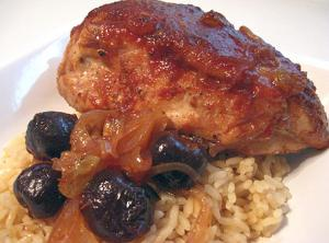"Cherry Chili Chicken from ""Cooking Jewish"""